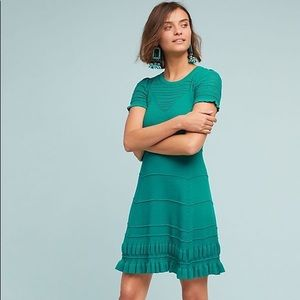 Anthropologie Promenade Pointelle Dress (xs) NWT